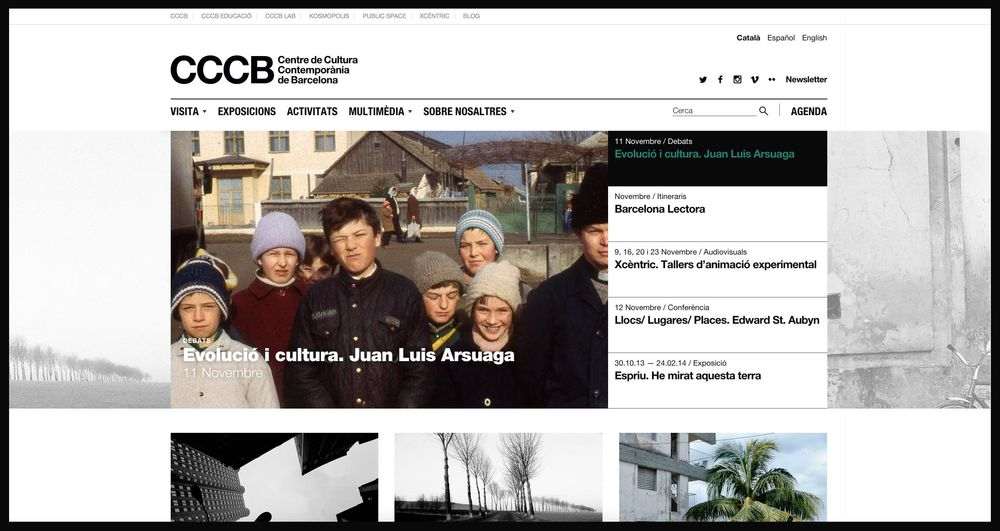 Barcelona Contemporary Culture Centre — CCCB (graphic design, art & culture, public sector, website), by DOMO-A | Art direction & graphic design, Barcelona