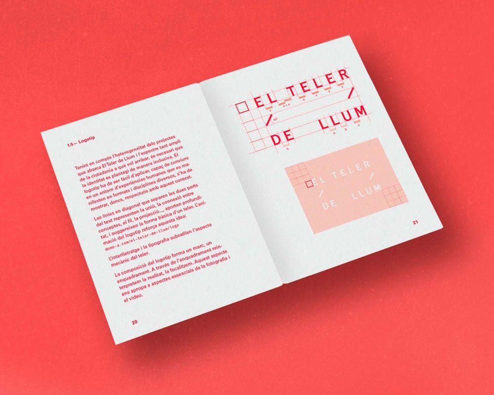 El Teler de Llum (art direction, graphic design, identity, art & culture, public sector, print, website), by DOMO-A |Art direction & graphic design, Barcelona