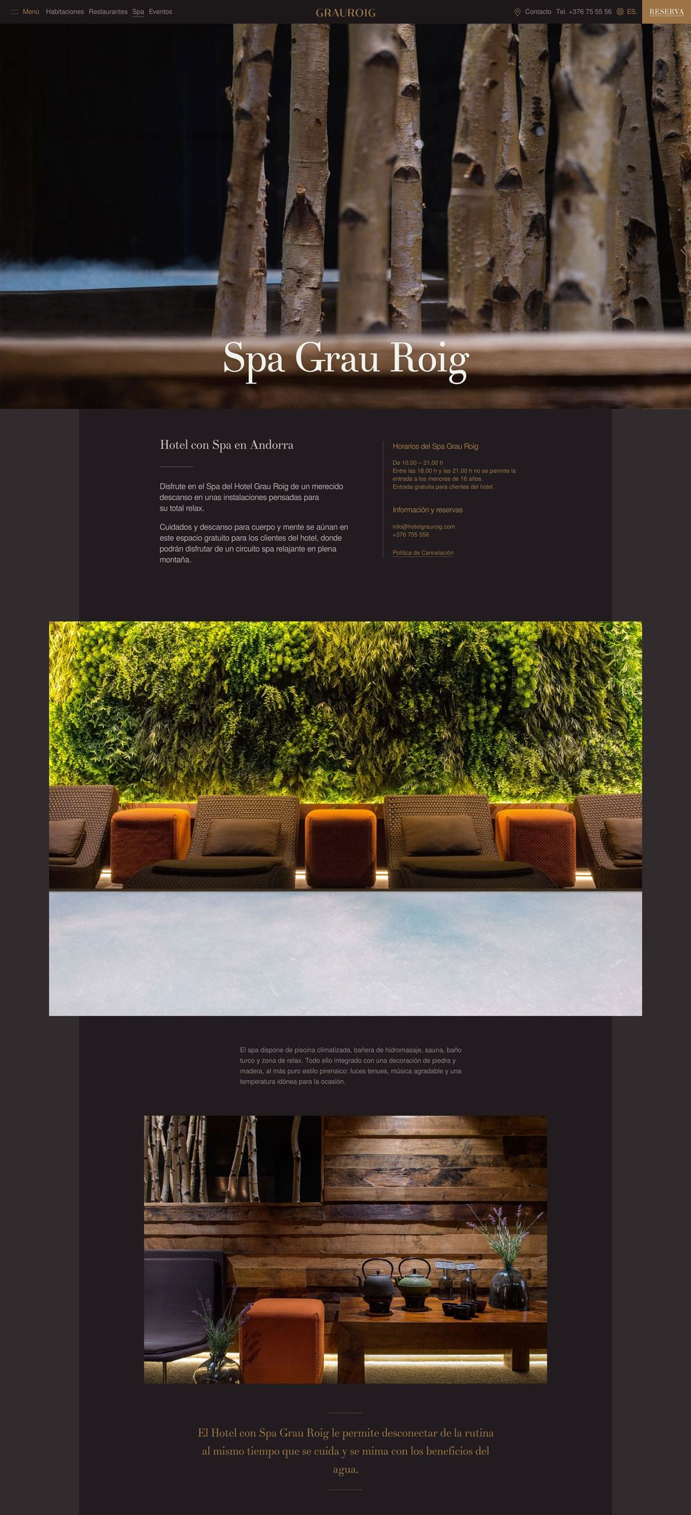 Grau Roig Boutique Hotel (art direction, graphic design, identity, hotel, website), by DOMO-A | Art direction & graphic design, Barcelona
