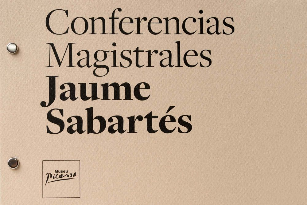 Master conferences Jaume Sabartés — Museu Picasso Barcelona (art direction, graphic design, art & culture, print), by DOMO-A | Art direction & graphic design, Barcelona