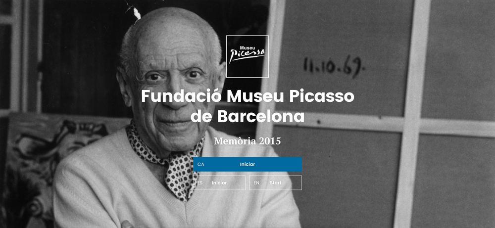 Museu Picasso — Annual report 2015 (art direction, graphic design, art & culture, website), by DOMO-A | Art direction & graphic design, Barcelona