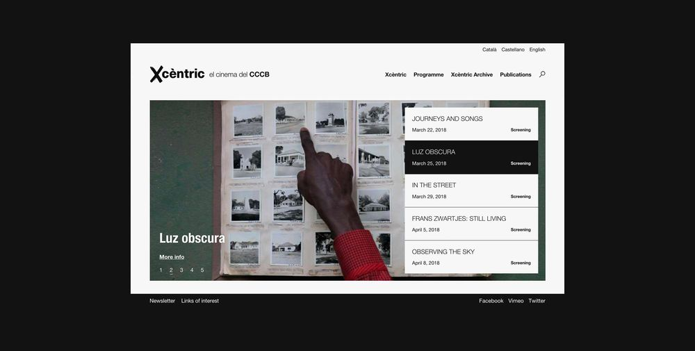 Xcèntric (art direction, graphic design, identity, art & culture, public sector, print, website), by DOMO-A | Art direction & graphic design, Barcelona